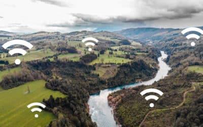 Zonas de cobertura del internet satelital